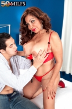 A big-assed Latina with greater than standard milk sacks and dick-sucking lips