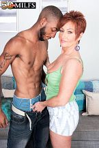 Young, black pecker for HORNY HOUSEWIFE Ruby O'Connor