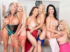The first-ever six-way granny orgy