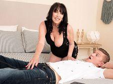 Christina copulates her grandson's friend
