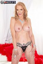 63-year-old granny's anal toy show
