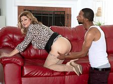 Brenda Douglas' first on-camera XXX is with a BBC!